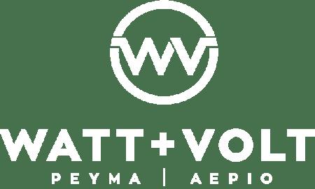 Watt +Volt White Logo